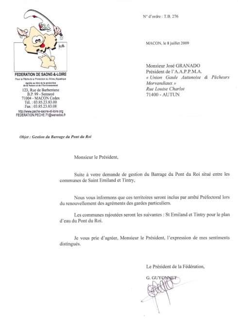 Union Gaule Autunoise Pêcheurs Morvadiaux Fédération Saône